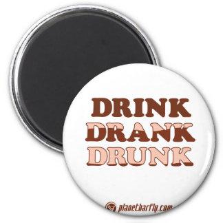 Drink Drank Drunk 6 Cm Round Magnet