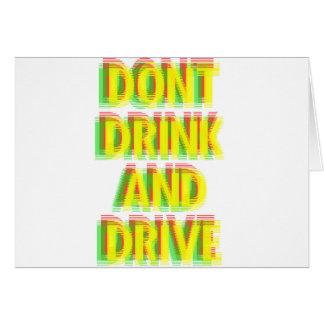 Drink & drive greeting card