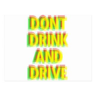 Drink & drive postcard