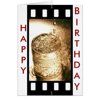 Drink film reel greeting card