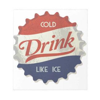 Drink Ice Cold Cola Bottle Cap Memo Pad