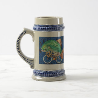 Drink like a Fish (or hipster) on a Bicycle Beer Stein