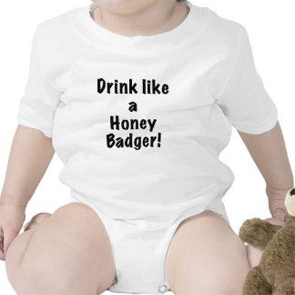 Drink Like a Honey Badger T Shirts