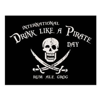 Drink Like a Pirate Postcard