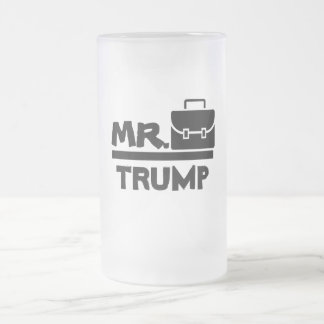 Drink Like a President Frosted Glass Beer Mug