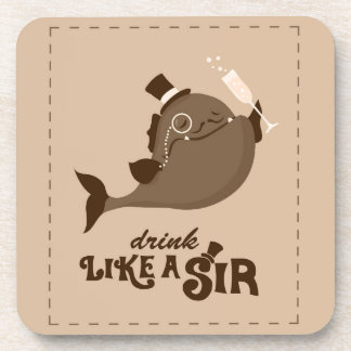 Drink Like A Sir coasters