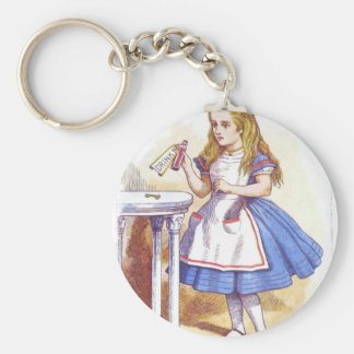 Drink Me, Alice! Basic Round Button Key Ring