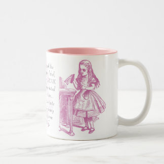 Drink Me! Alice in Wonderland Mug Pink