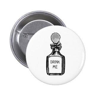 Drink Me Alice In Wonderland Pin Badge