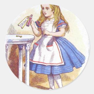 Drink Me, Alice! Round Sticker