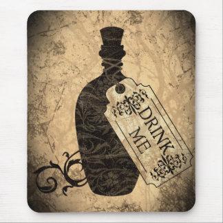 Drink Me Bottle Mouse Pad