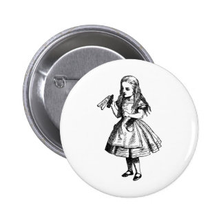 Drink Me Inked Black 6 Cm Round Badge
