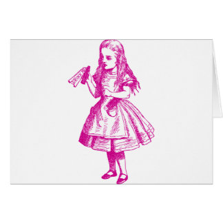 Drink Me Inked Pink Greeting Cards