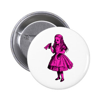 Drink Me Inked Pink Fill 6 Cm Round Badge