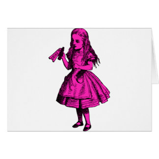 Drink Me Inked Pink Fill Greeting Card