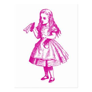 Drink Me Inked Pink Postcard