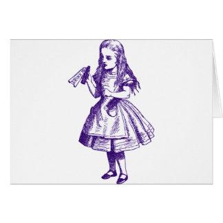Drink Me Inked Purple Greeting Card