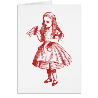 Drink Me Inked Red Greeting Card