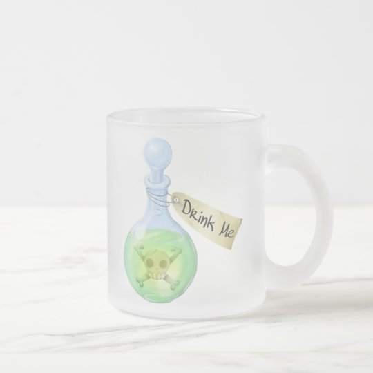 Drink Me (Poison) Frosted Glass Coffee Mug
