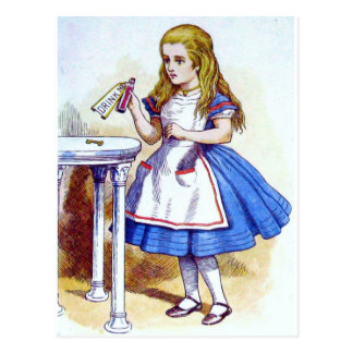 """""""Drink Me"""" Potion with Alice Post Card"""