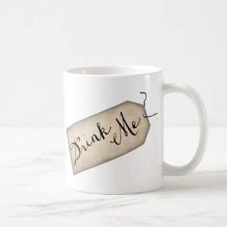 Drink Me Vintage Paper Tag Mug