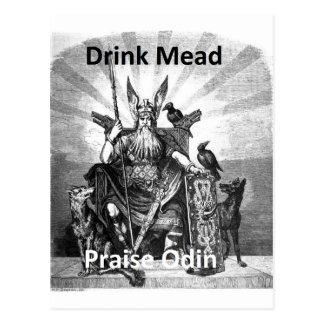 Drink Mead - Praise Odin Postcard