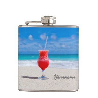 Drink On Beach custom flask