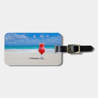 Drink On Beach custom luggage tag