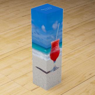 Drink On Beach custom wine gift box