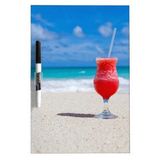 Drink On Beach message board Dry-Erase Whiteboard