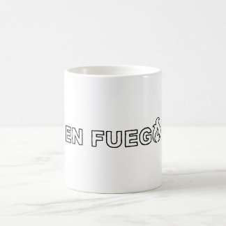 Drink on fire coffee mug
