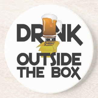 Drink Outside the Box coaster