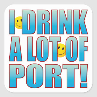 Drink Port Life B Square Sticker