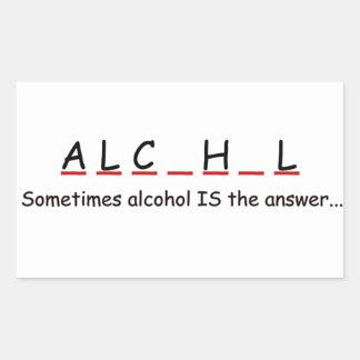 drink rectangular sticker
