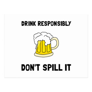 Drink Responsibly Postcard