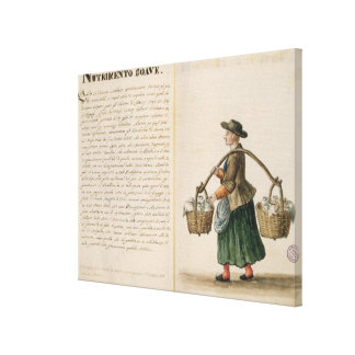 Drink-seller, Venetian (manuscript) Canvas Print