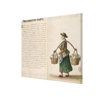 Drink-seller, Venetian (manuscript) Gallery Wrap Canvas