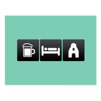 Drink, Sleep and Alamo Postcard