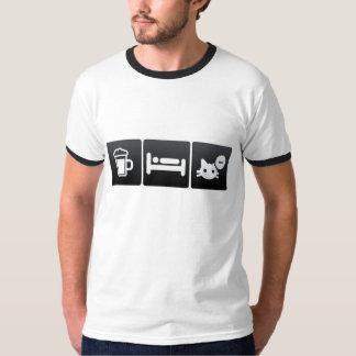 Drink, Sleep and Cat Doors Shirt