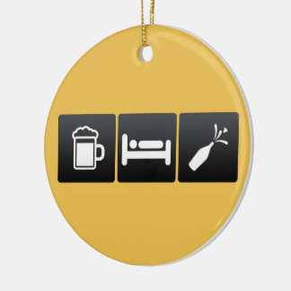 Drink, Sleep and champagne Christmas Ornament