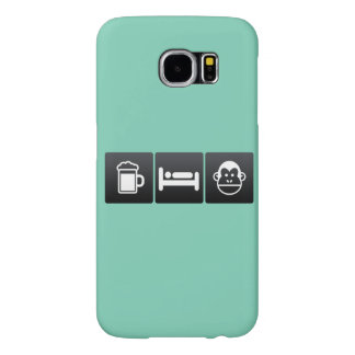 Drink, Sleep and Chimps Samsung Galaxy S6 Cases