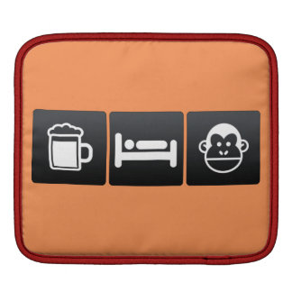 Drink, Sleep and Chimps Sleeve For iPads