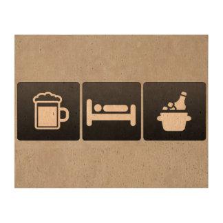 Drink, Sleep and Cold Beer Queork Photo Print