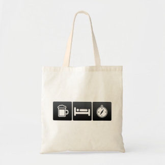 Drink, Sleep and Compass App Budget Tote Bag