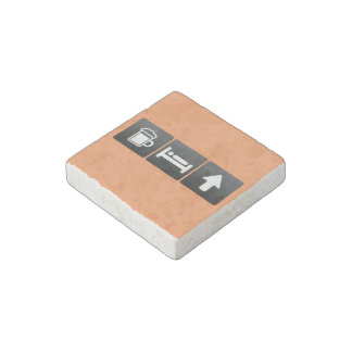 Drink, Sleep and Cursor Arrows Stone Magnet