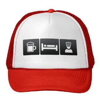 Drink, Sleep and Executive Chefs Cap