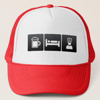Drink, Sleep and Executive Chefs Trucker Hat