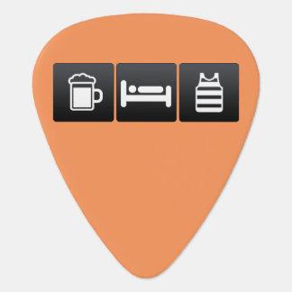 Drink, Sleep and Sleeveless Shirts Guitar Pick