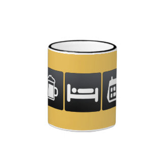 Drink, Sleep and Table Calendars Ringer Coffee Mug