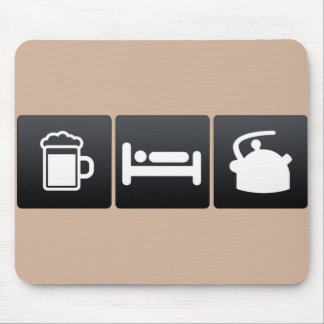 Drink, Sleep and Tea Kettles Mouse Mat